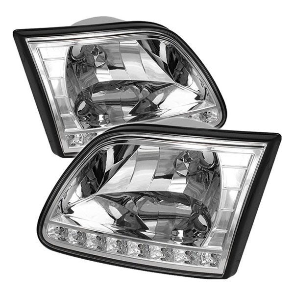 xTune HD-ON-FF15097-LED-C:  Ford Expedition 97-02 ( Will Not Fit Anything Before Manu. Date June 1997 ) Crystal Headlights - Chrome
