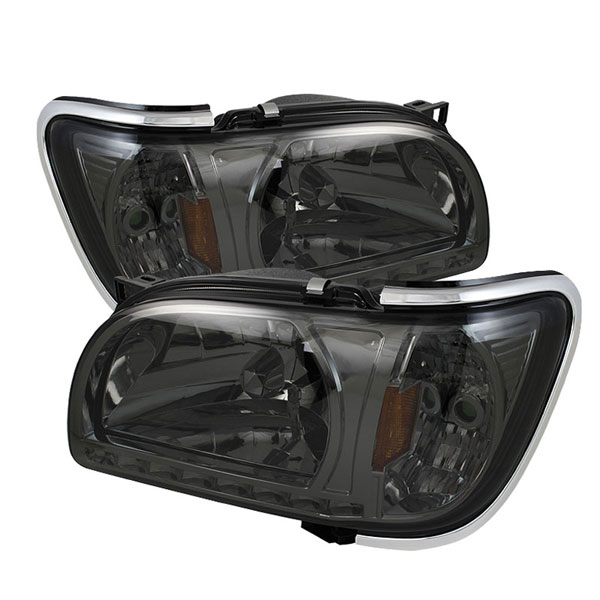 xTune HD-ON-TT01-1PC-LED-CC-SM:  Toyota Tacoma 01-04 1 Piece with Chrome Trim Corner Crystal Headlights - Smoke