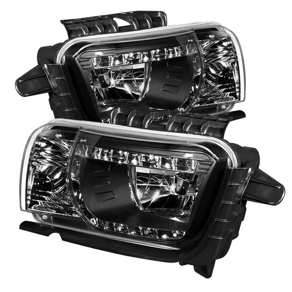 Spyder HD-YD-CCAM2010-DRL-BK:  Chevrolet Camaro 10-12 DRL LED Crystal Headlights - Black