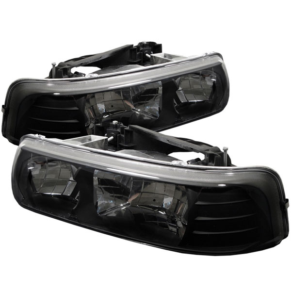 Spyder HD-YD-CSIL99-BK:  Silverado 99-03 Crystal Headlights - Black
