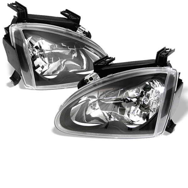 Spyder HD-YD-HD93-BK:  Honda Del Sol 93-97 Crystal Headlights - Black