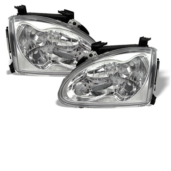 Spyder HD-YD-HD93-C:  Honda Del Sol 93-97 Crystal Headlights - Chrome