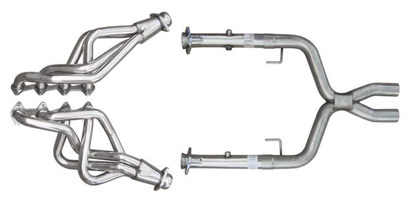 Pypes Exhaust HDR55SK: Pypes Mustang Long Tube headers with X-Pipe Kit 2005-2010 V8