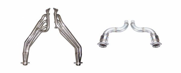 Pypes Exhaust HDR78SK-1: Pypes Mustang GT Long Tube Headers 2015-16 with Catted Connection Pipes, 1-3/4 Primary Tubes Step to 1-7/8 and 3 inch Collectors