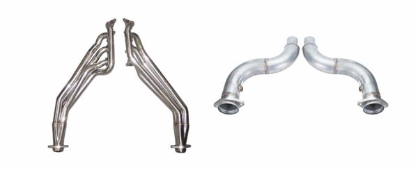 Pypes Exhaust HDR78SK-2 | Pypes Mustang GT Long Tube Headers with off-Road Connection Pipes, 1-3/4 Primary Tubes Step to 1-7/8 and 3 inch Collectors; 2015-2017