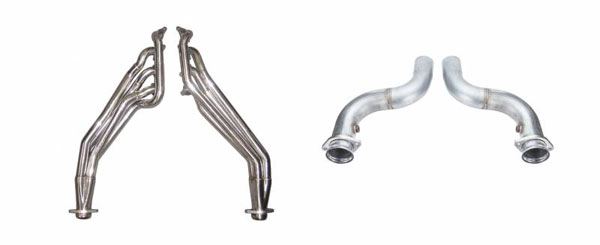 Pypes Exhaust HDR78SK-3 | Pypes Mustang GT Long Tube Headers 2015-17 with off-Road Connection Pipes and Mid-Pipes, 1-3/4 Primary Tubes Step to 1-7/8 and 3 inch Collectors