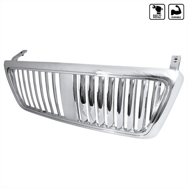 Spec-D Tuning HG-F15004CVT-TY | Spec-D Ford F-150 1p Chrome Grill Vertical; 2004-2007