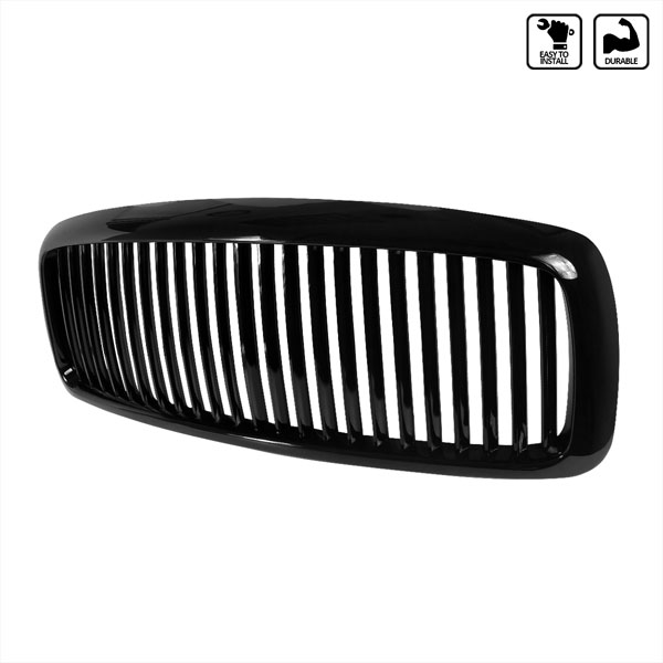 Spec-D Tuning HG-RAM02JMVT: Spec-D 02-05 Dodge Ram Vertical Grille - Black