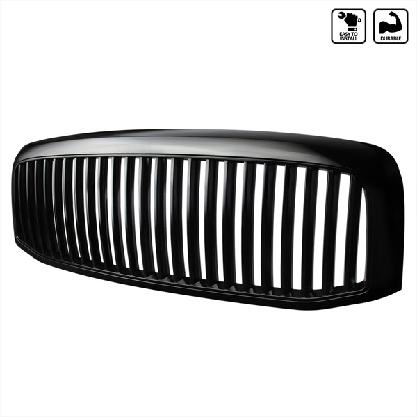 Spec-D Tuning HG-RAM06JMVT: Spec-D 06-07 Dodge Ram Vertical Grille Black