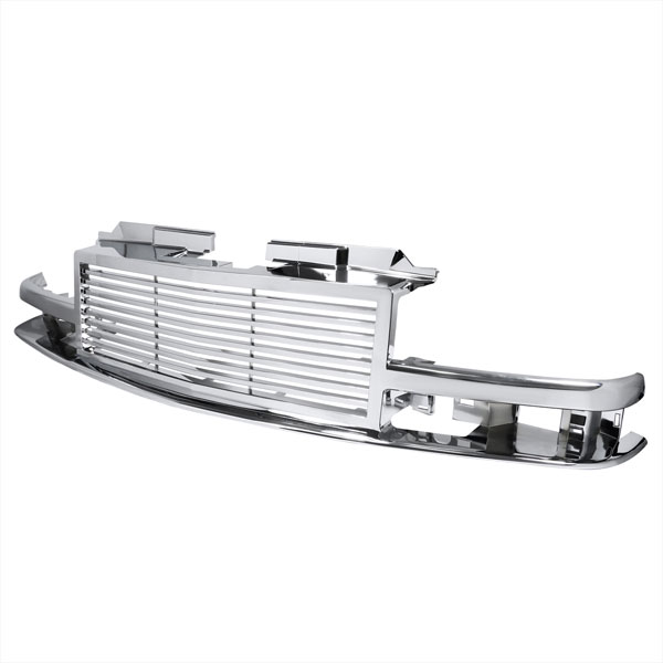 Spec-D Tuning HG-S1098C | Spec-D S10 1pc Front Grill - Chrome; 1998-2002