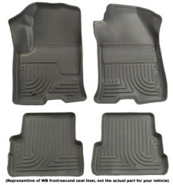 Huskyliner 98122 | Husky Liner Camaro Weather Beater Floor Mats - Grey (set of 4); 2010-2012