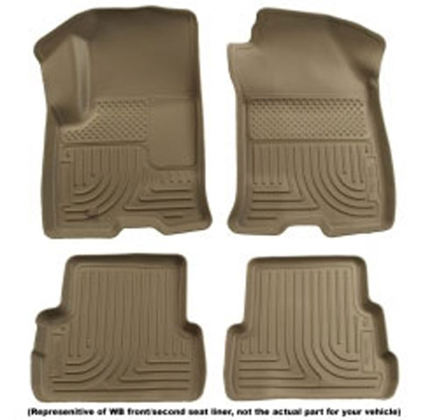 Huskyliner 98123 | Husky Liner Camaro Weather Beater Floor Mats - Tan (set of 4); 2010-2012