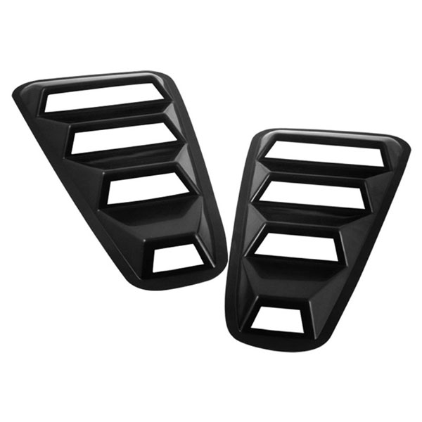 xTune HS-WL-FM05 |  Ford Mustang 1/4 Window Louver -Black; 2005-2009
