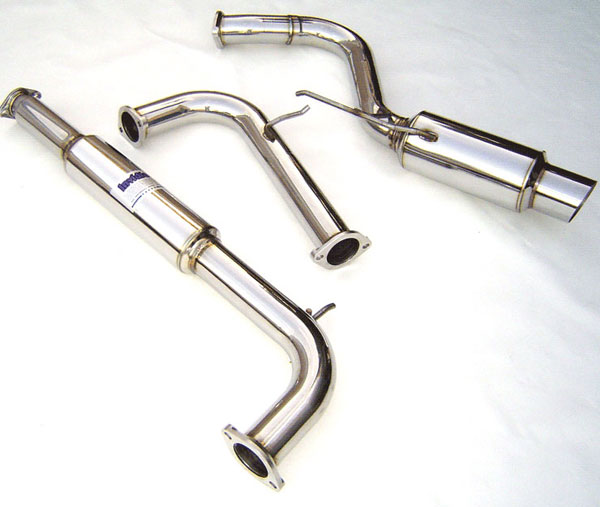Invidia Exhausts HS00ME1GTP: INVIDIA ECLIPSE V6 N1 CAT-BACK EXHAUST SYSTEM, 00-05