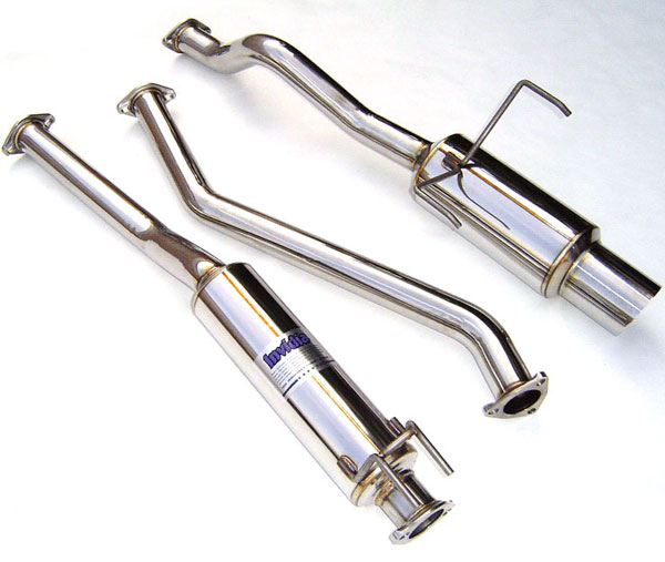 Invidia Exhausts HS01HC2GTP: INVIDIA CIVIC EX 2DR/4DR N1 CAT-BACK EXHAUST SYSTEM, 01-05