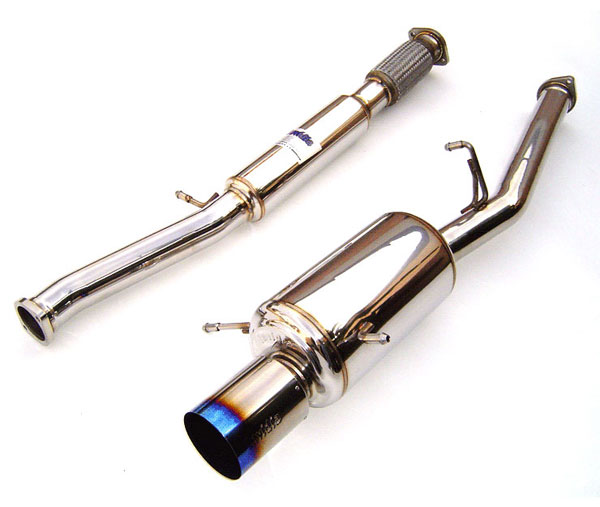 Invidia Exhausts HS02SW1G2T: INVIDIA WRX/STI G200 TITANIUM TIP CAT-BACK EXHAUST SYSTEM, 02-07