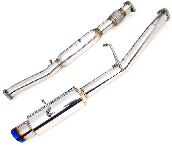 Invidia Exhausts HS02SW1GTT: INVIDIA WRX/STI N1 SINGLE LAYER TITANIUM TIP CAT-BACK EXHAUST SYSTEM, 02-07