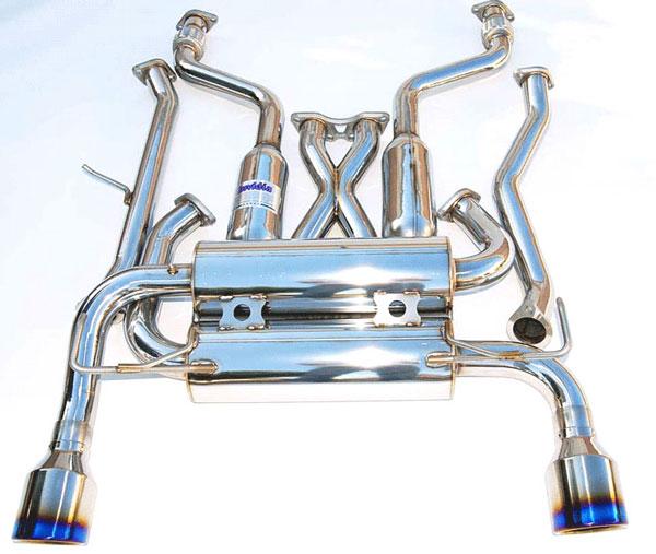 Invidia Exhausts HS03IG3GID | Invidia G35 Coupe Gemini Rolled Titanium Tips Cat-Back Exhaust System; 2003-2006