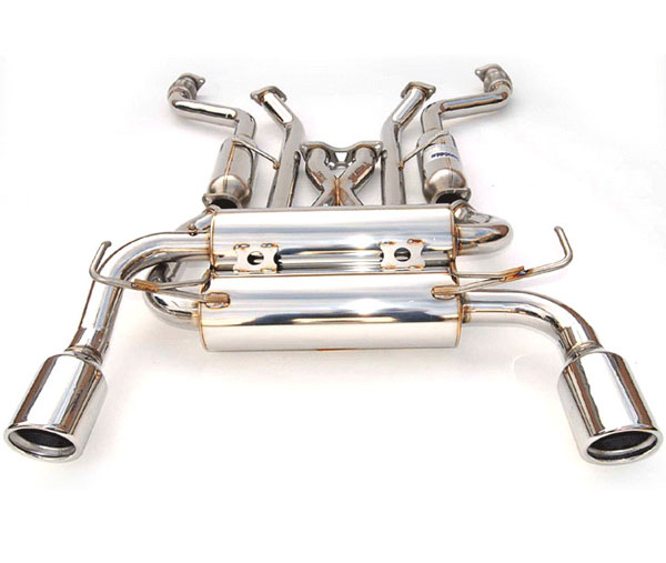 Invidia Exhausts HS03IG3GIS | Invidia G35 Coupe Gemini Rolled S.S. Tips Cat-Back Exhaust System; 2003-2006