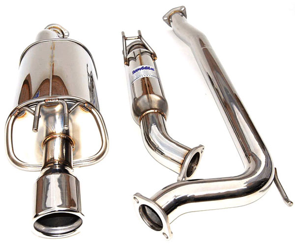 Invidia Exhausts HS06HC2G3S: INVIDIA CIVIC SI COUPE Q300 70mm S.S. ROLLED TIP CAT-BACK EXHAUST SYSTEM, 06-11