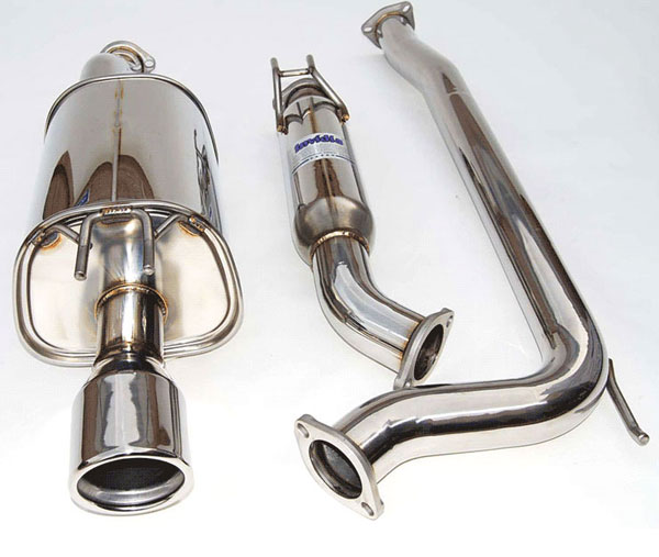 Invidia Exhausts HS06HC4G3S | Invidia Civic Si Sedan Q300 70mm S.S. Rolled Tip Cat-Back Exhaust System; 2006-2011