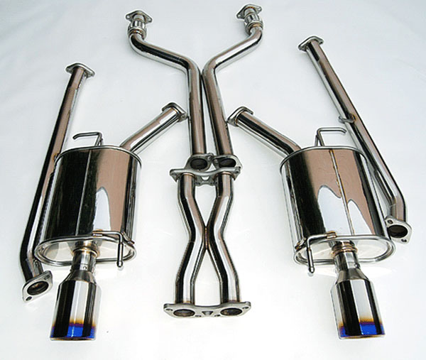 Invidia Exhausts HS07IG4G3D: Invidia 07-16 G35 4door Q300 Rolled Titanium Tips Cat-Back Exhaust System, 07-16
