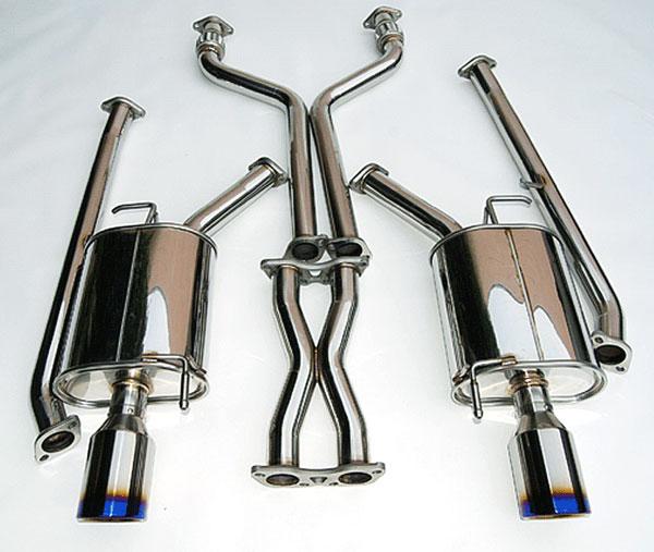 Invidia Exhausts HS07IG4G3D | Invidia 07-16 G35/G37 4door Q300 Rolled Titanium Tips Cat-Back Exhaust System, 07-16