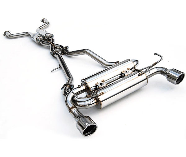 Invidia Exhausts HS07IG7GIS: INVIDIA G37 COUPE GEMINI ROLLED S.S. TIPS CAT-BACK EXHAUST SYSTEM, 07-16