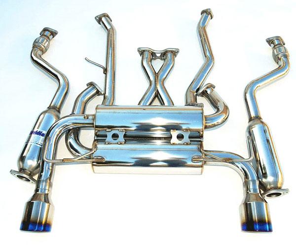 Invidia Exhausts HS07IG7GIT   Invidia G37 Coupe Gemini Single Layer Titanium Tips Cat-Back Exhaust System; 2007-2016