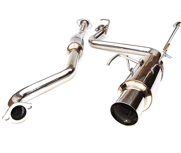 Invidia Exhausts HS08SI4GTP: INVIDIA IMPREZA 4 DOORS N1 STAINLESS STEEL TIP CAT-BACK EXHAUST SYSTEM, 08-14
