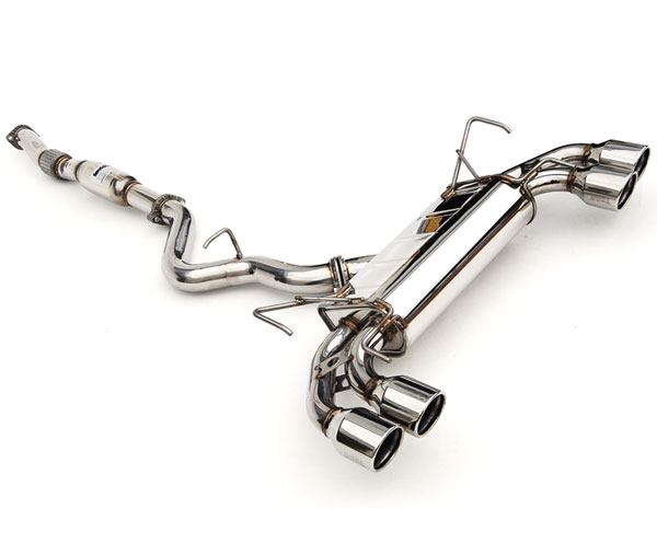Invidia Exhausts HS08STIG3S | Invidia Sti 5 Doors Q300 Rolled Stainless Steel Tip Cat-Back Exhaust System; 2008-2014