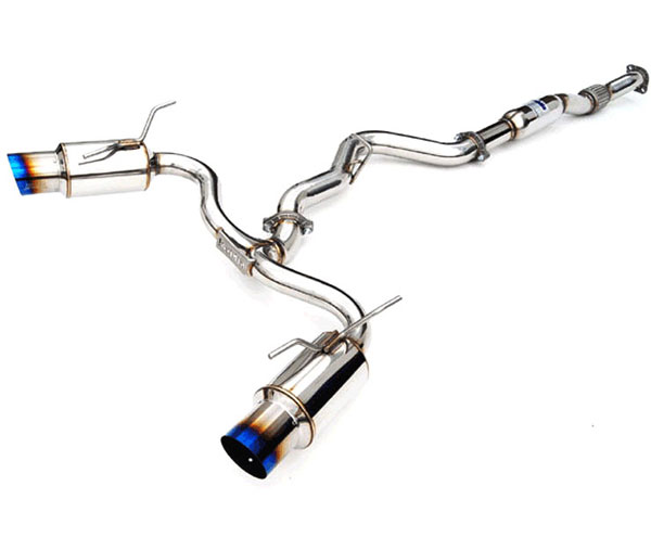 Invidia Exhausts (HS08STIGTT) Invidia Sti 5 Doors N1 Twin Out Let Titanium Tip Cat-Back Exhaust System, 08-14