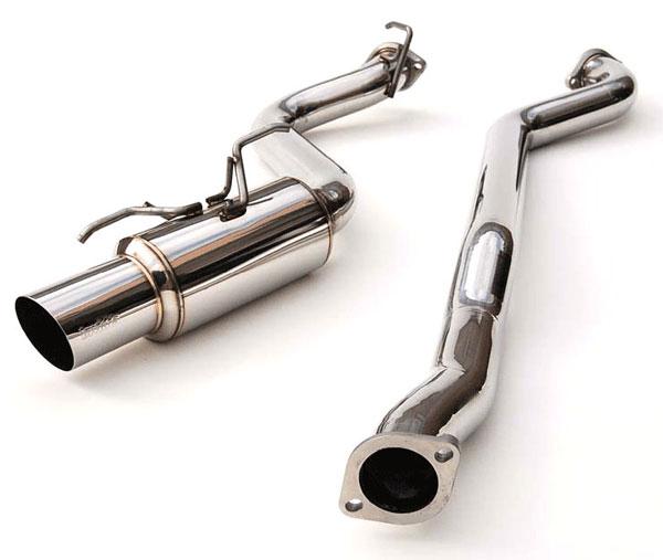 Invidia Exhausts HS08SW5GRT   Invidia Wrx 5 Doors Racing Titanium Tip Cat-Back Exhaust System; 2008-2014