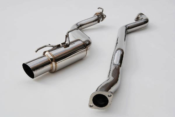 Invidia Exhausts HS08SW5GTR: INVIDIA WRX 5 DOORS RACING STAINLESS STEEL TIP CAT-BACK EXHAUST SYSTEM, 08-14