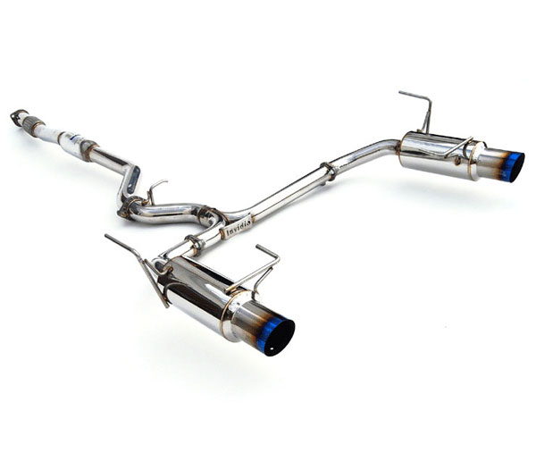 Invidia Exhausts HS10SL1GTT: INVIDIA LEGACY N1 TWIN OUTLET SINGLE LAYER TITANIUM TIP CAT-BACK EXHAUST SYSTEM, 10-16