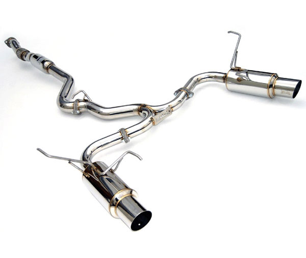Invidia Exhausts HS11STIGTP | Invidia Wrx/Sti 4 Door N1 Twin Out Let S.S. Tip Cat-Back Exhaust System; 2008-2014