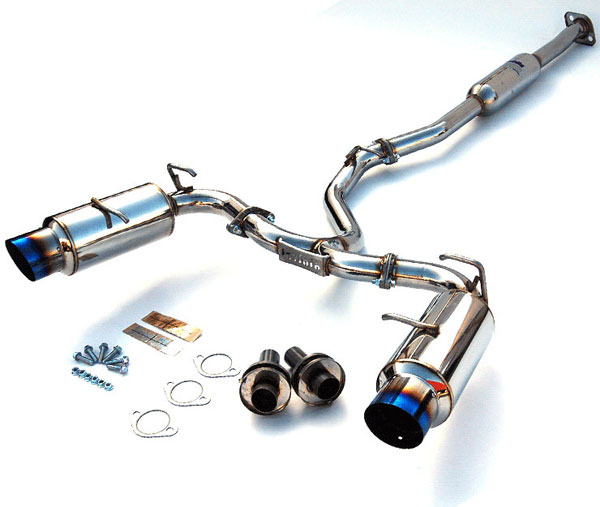 Invidia Exhausts (HS12SSTGTT) Invidia Br-Z & Scion Fr-S N1 single Layer Titanium Tips Cat-Back Exhaust System, 12-17