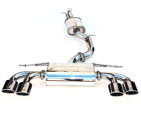 Invidia Exhausts (HS14GFRG3S) Invidia Golf-R Q300 Quad Oval S.S.Tips Cat-Back Exhaust System, 2014+