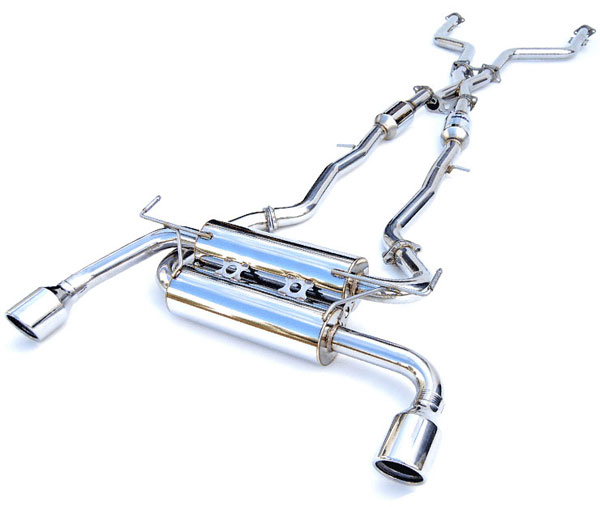 Invidia Exhausts (HS14IQ5GIS) Invidia Q50 Gemini Rolled S.S. Tip Cat-Back Exhaust System, 14-16
