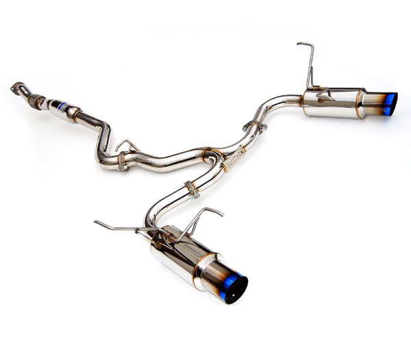 Invidia Exhausts HS15STIGTT | Invidia Wrx/Sti 4 Door N1 Twin Out Let Titanium Tip Cat-Back Exhaust System, 15-16