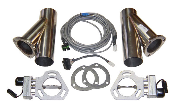 Pypes Exhaust HVE10K: Pypes Dual Electric Cutout & Y-pipe Kit (for 2.5'' exhaust)