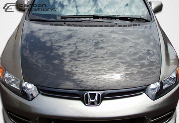 Carbon Creations 100681 | Honda Civic 2DR Carbon Creations OEM Hood 1-Piece; 2006-2011