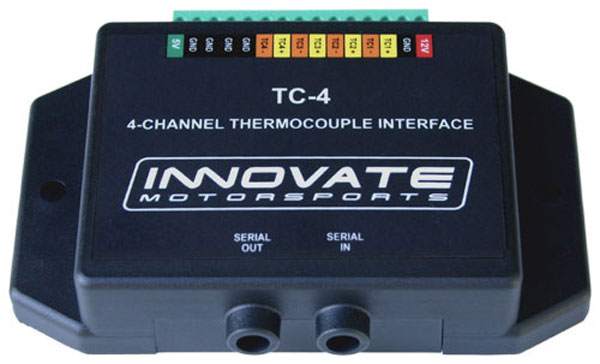 Innovate 3784:  TC-4 (4-Channel Thermocouple Amplifier)