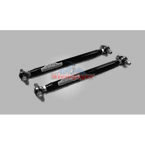 Steinjager J0013217:  G-Body Rear Lower Control Arms Offset Bushing Dbl Adjustable with Chrome Moly Spherical Rod Ends Black Powdercoat 1978-1988