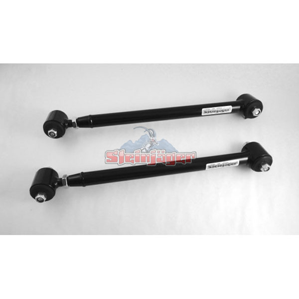 Steinjager J0017879:  G-Body Rear Lower Control Arms Single Adjustable with Poly/Poly Bushings Black Powdercoat 1978-1983