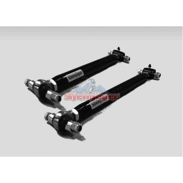 Steinjager J0017882:  G-Body Rear Lower Control Arms Double Adjustable with Poly/Sphcl Chrome Moly Rod Ends and Bushings Black Powdercoat 1978-1987
