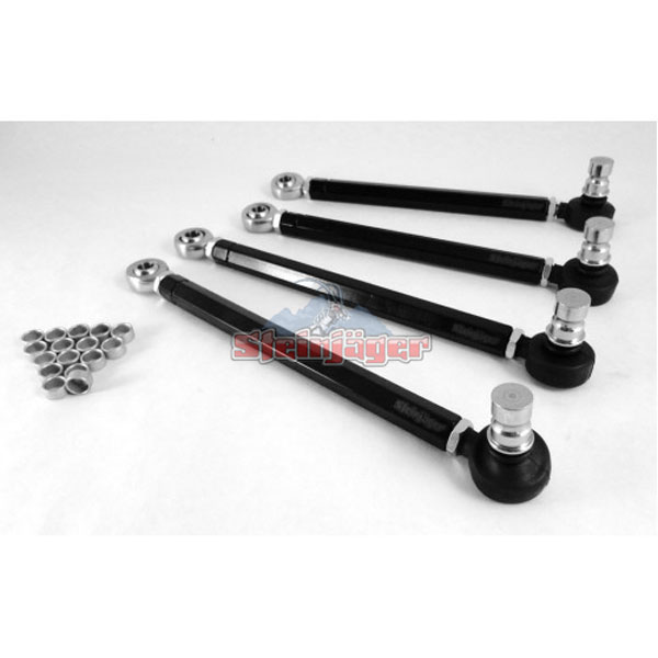 Steinjager J0030140 |  Audi S4 Front Upper Control Arms Double Adjustable with Chrome Moly Rod Ends; 2000-2008