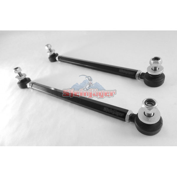 Steinjager J0030315:  BMW M3 Front Sway Bar End Links Double Adjustable with Chrome Moly Rod Ends 2000-06