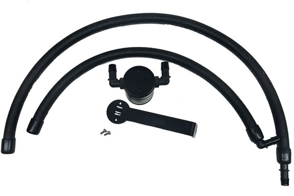 JLT Performance 3065P-B | JLT 3.0 Oil Separator Dodge Ram 1500 Passenger Side Black Anodized Finish; 2009-2018