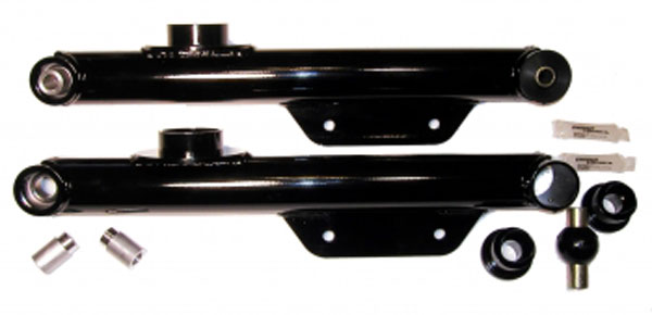 J&M Products 23957:  Street/Race Lower Control Arms 1979-98 Mustang - Black V8